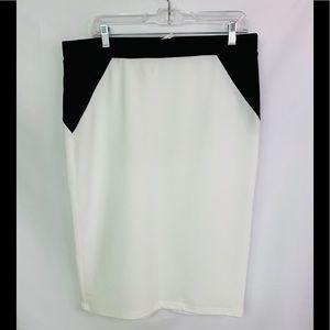 Dresses & Skirts - plus size color block pencil skirt 3X BNWOT